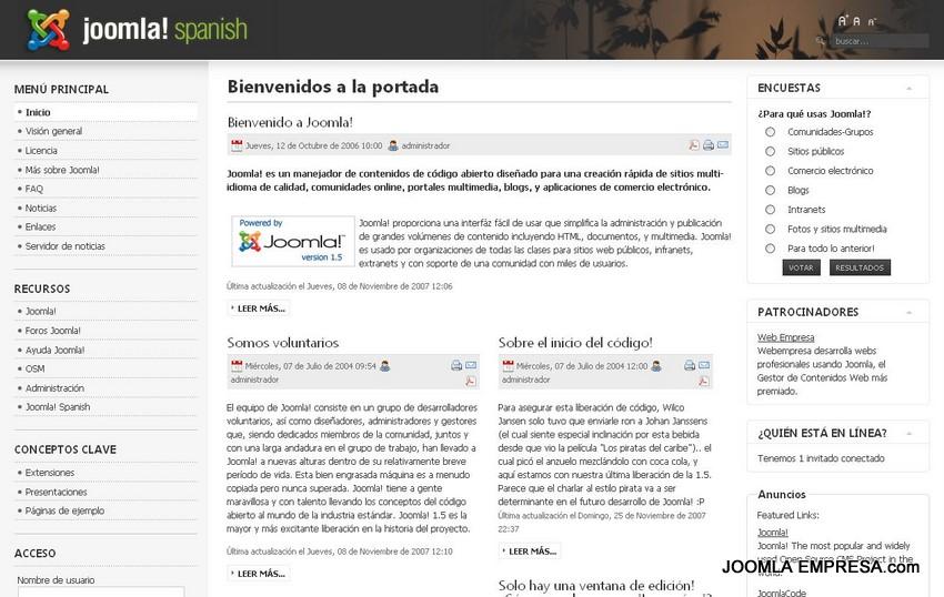 Cómo instalar una plantilla nueva en tu pagina web Joomla 1.0 y ...