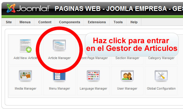 ARTICLE MANAGER JOOMLA